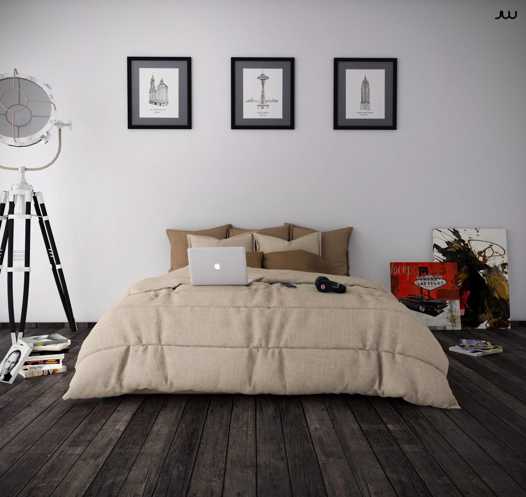 3D model Bedroom minimalist   CGTrader on Model Bedroom Interior Design  id=50596