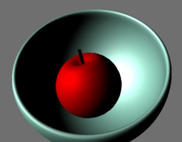 3D asset Apple In A Bowl