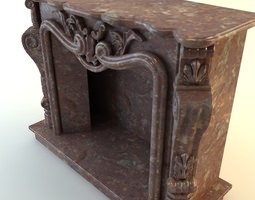 Marble Fireplace 3D