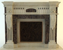 Traditional Style Fireplace 3D