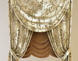 3D model Classical Curtains Jabot