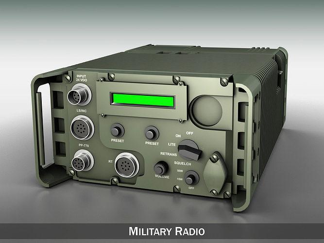 uhf military data radio 3d model obj mtl 3ds fbx c4d lwo lw lws 1