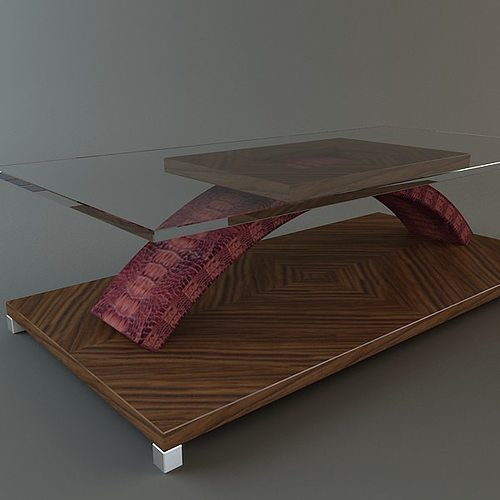coffee table with skin 3d model max obj 3ds fbx mtl 1