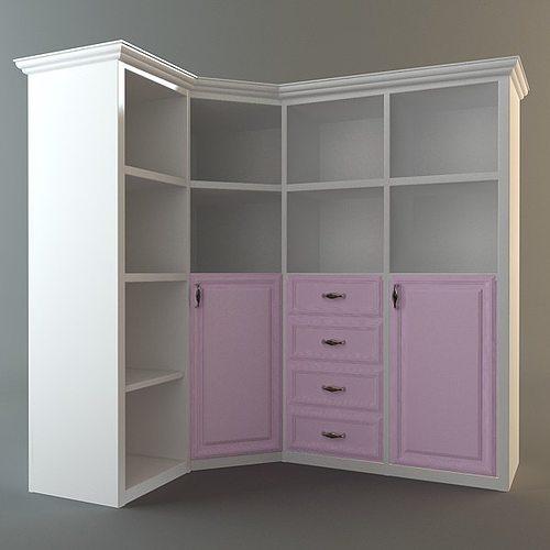 Corner Storage Cabinet 3D model | CGTrader