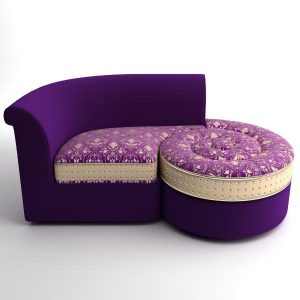 Italian Designer Divan Chaise D Model CGTrader - Divan furniture