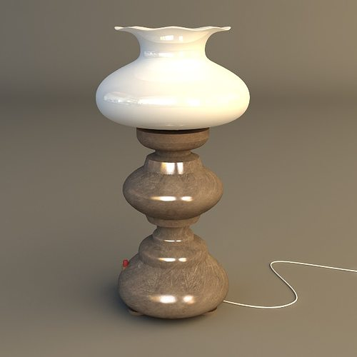 Table Lamp 3ds Max Antique 3d Table Lamp Cgtrader