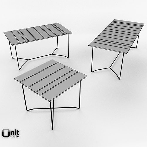 D Model Skargaarden Outdoor Table And Chair CGTrader - Picnic table dwg