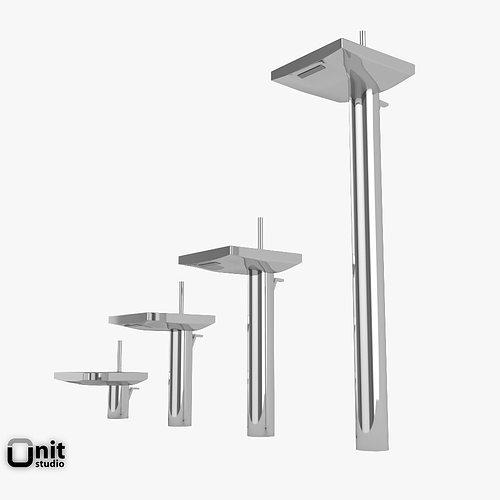 3d model hansgrohe axor starck x washbasin tap cgtrader. Black Bedroom Furniture Sets. Home Design Ideas