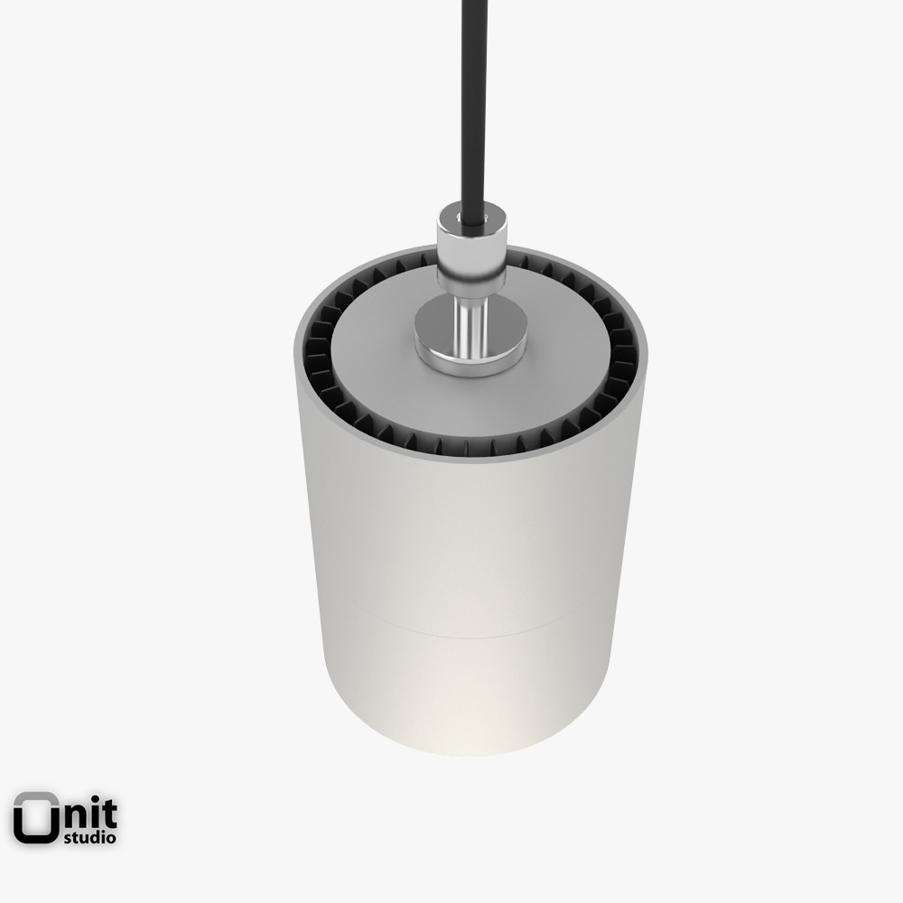 Zumtobel Vivo P M Pendant Spotlight 3D Model MAX OBJ 3DS