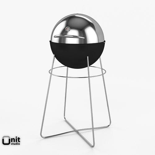 3d eva solo grill globe cgtrader. Black Bedroom Furniture Sets. Home Design Ideas