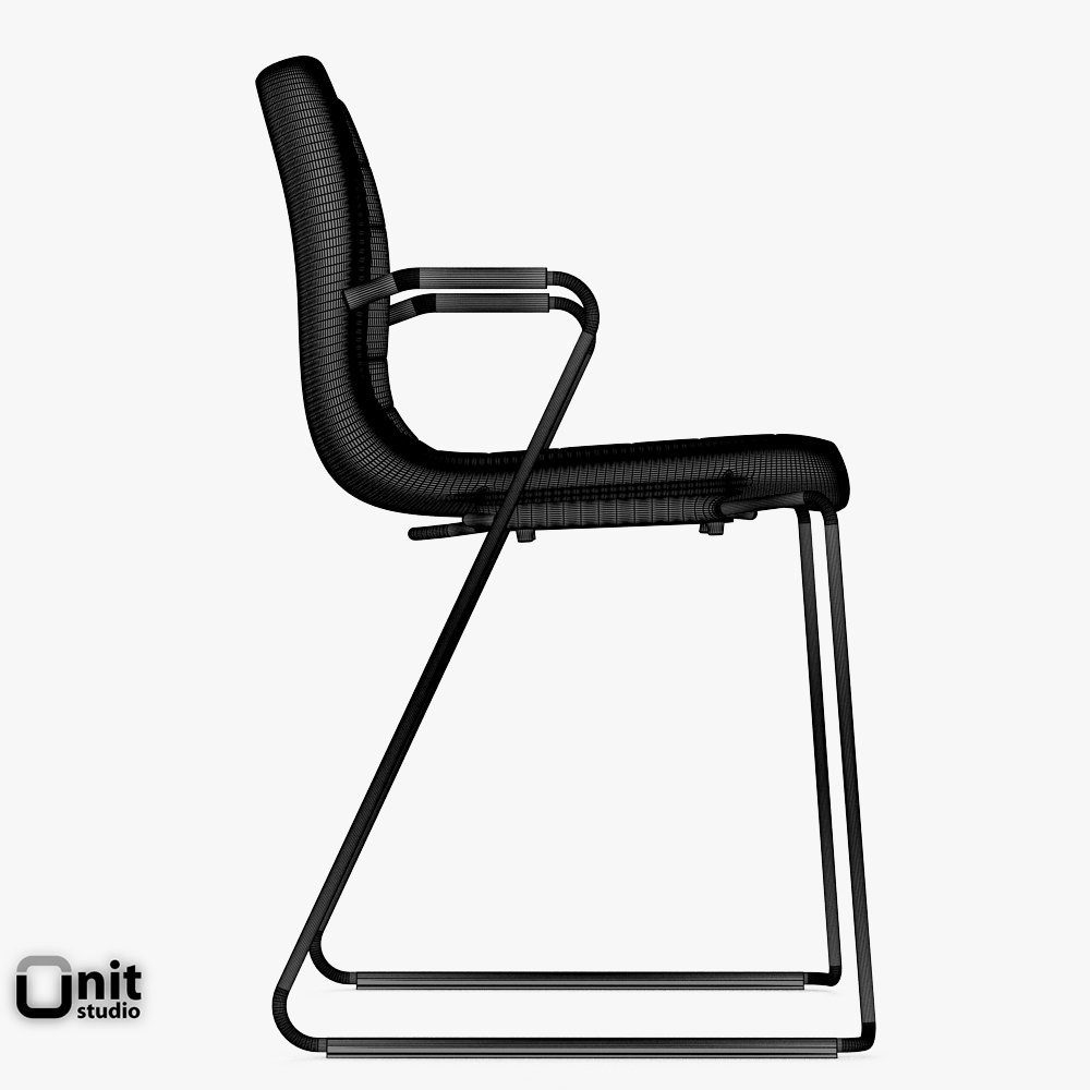 catifa 46 leather technical sled chair arper 3d model max. Black Bedroom Furniture Sets. Home Design Ideas