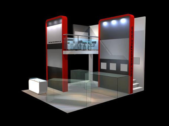 Exhibition Booth Obj : D exhibit booth exhibition stand cgtrader