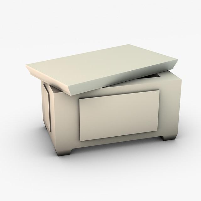 ... Ancient Stone Ark Storage Box 3d Model Low Poly Max Obj 3ds Fbx C4d 7