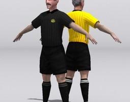 referee 3d model low-poly max obj fbx