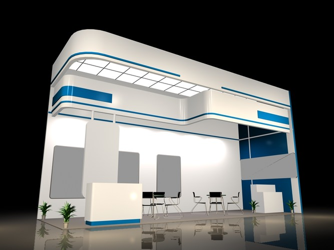3d Exhibition Design Software : Exhibit booth d fair cgtrader