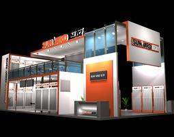 exhibit booth 144 3d model