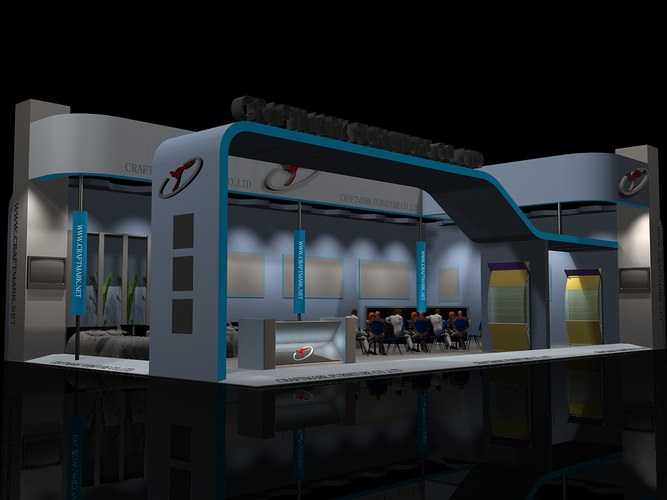 3d Exhibition Booth : Exhibit booth d model stand cgtrader