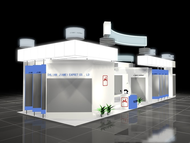 Exhibition Booth Obj : D shop exhibit booth cgtrader
