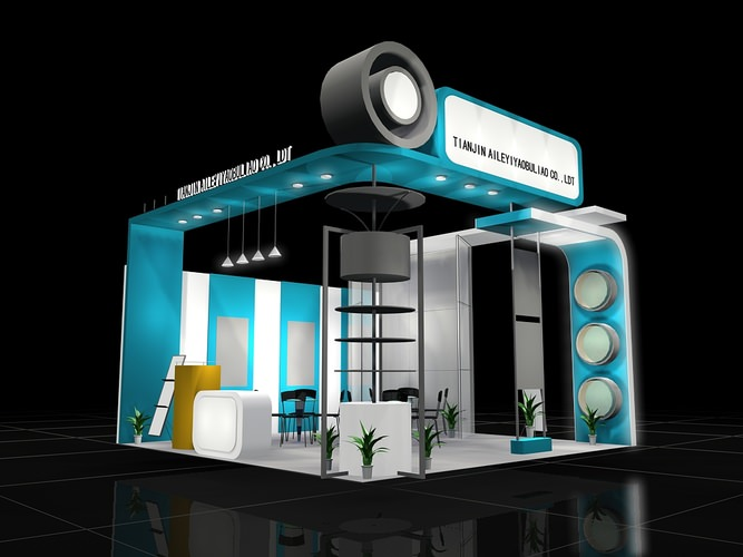 3d Exhibition Design Software : Trade exhibit booth d cgtrader