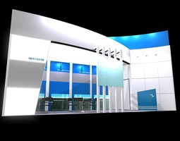 3d model exhibition stand 206