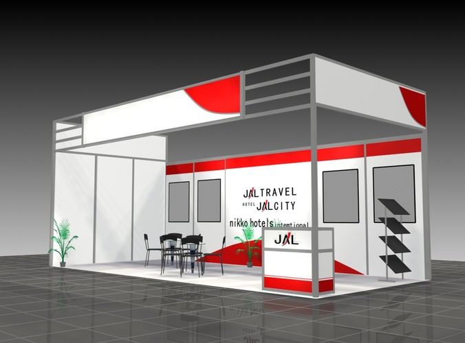 Exhibition Stand Free 3d Model : Exhibition stand d panel cgtrader