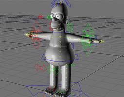 animated homero simpson c4d 3d model