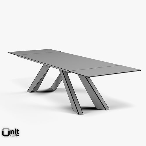 Big Table Bonaldo extendable 3D | CGTrader