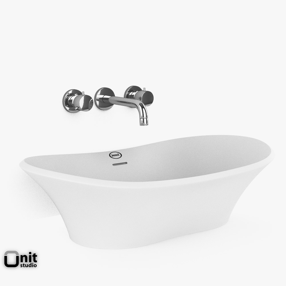 Jacuzzi Infinito Washbasin with faucet 3D   CGTrader