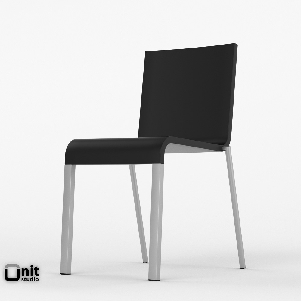 Chair vitra free 3d model max 3ds fbx dwg for Chair design 3ds max