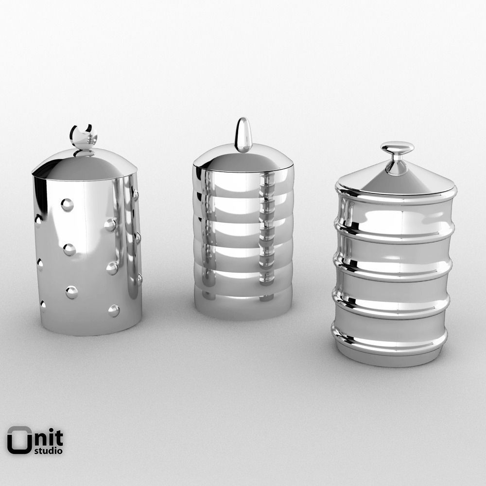 ... Alessi Kalisto Kitchen Canister 3d Model Max Obj Fbx Unitypackage 3 ...
