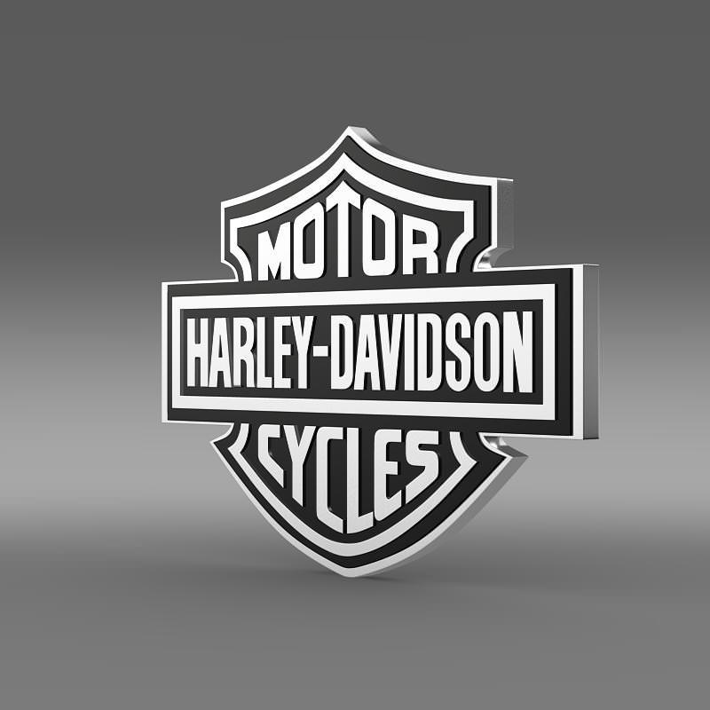 3d Model Harley Davidson Logo Cgtrader