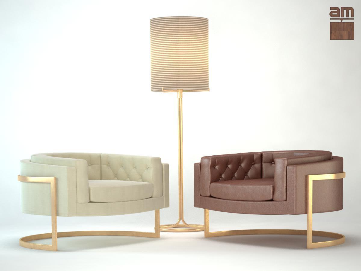 Milo Baughman Chair 3d Model Max Obj Fbx 1 ...