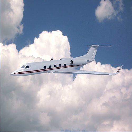 gulfstream aerospace g-1159a private jet 3d model obj mtl 3ds fbx blend 1