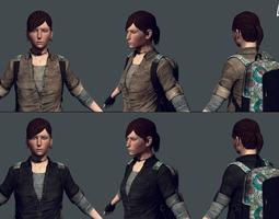messenger - female survivor game model game-ready