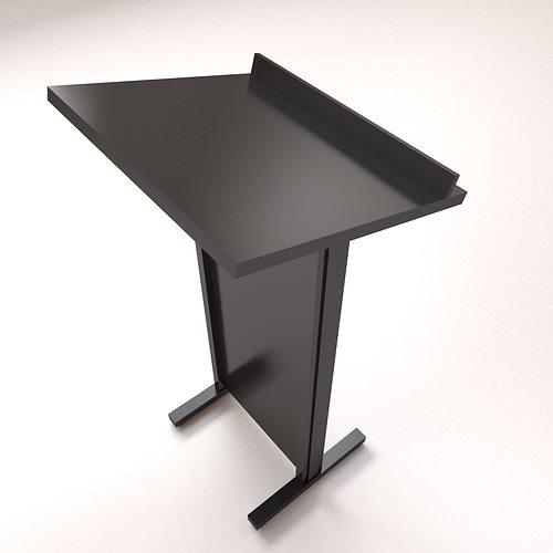 lectern 3d model 3ds fbx blend dae 1
