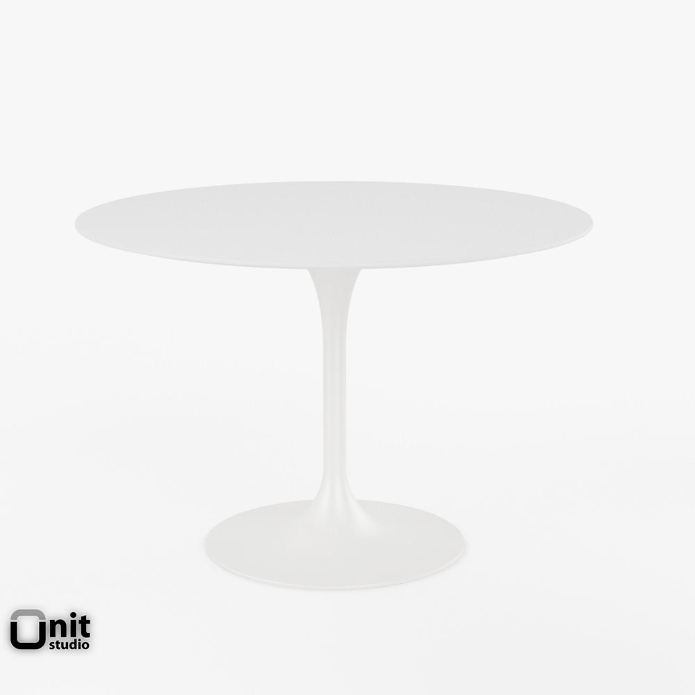 Saarinen Dining Table   42 Round 3d Model Max Obj 3ds Fbx Dwg Unitypackage  1 ...