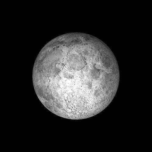 the moon 3d model low-poly obj mtl 3ds fbx hrc xsi dae skp 1