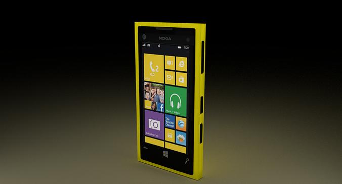 nokia lumia 1020 3d model blend 1