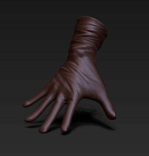 3 gloves 3d model obj mtl ztl tga 1
