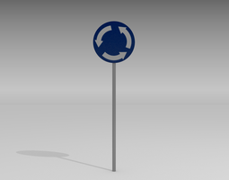 3D model Roundabout sign