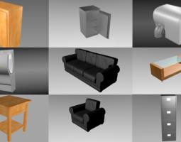 9 Object interior pack 3D model