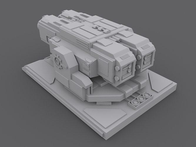 3D Machine Gun Turret | CGTrader