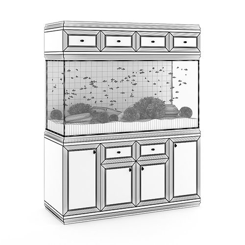 aquarium cabinet 3d model max obj fbx c4d 1