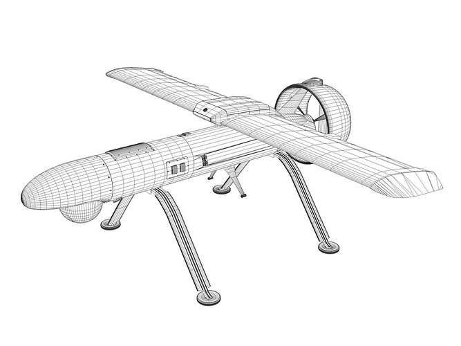Yakovlev 3d Model Pchela 1t Drone