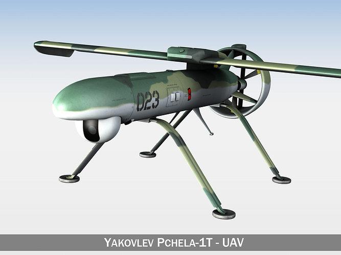 pchela-1t drone - russian uav 3d model obj mtl 3ds fbx c4d lwo lw lws 1