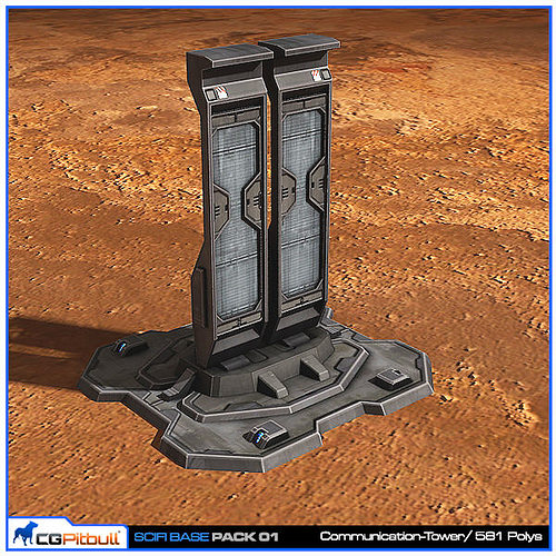 3d Model Scifi Base Pack 01 Vr Ar Low Poly Max Obj Fbx