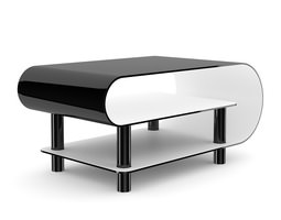 3d modern black glossy coffee table