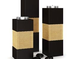 3d wooden candlesticks