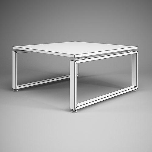 square office table 27 3d model max obj fbx c4d