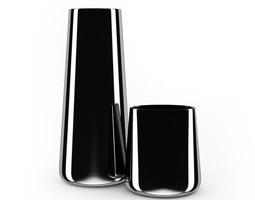 Chrome Vases 3D